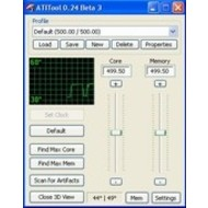 Скриншот ATITool 0.27 Beta 4
