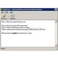 Скриншот Rar Password Recovery Key 8.0 build 2514