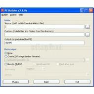 Скриншот Bart's PE Builder 3.1.10a