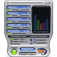 Скриншот DFX for Windows Media Player 9.301