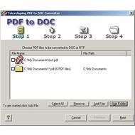 Скриншот PDF to DOC 1.2.45