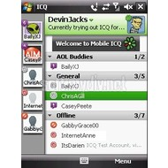 Скриншот ICQ Mobile для Windows Mobile 1.0.23.1