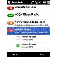 Скриншот Resco Pocket Radio (Windows Mobile) 2.02