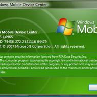 Скриншот Windows Mobile Device Center 6.1.6965