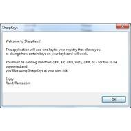 Скриншот SharpKeys 3.5