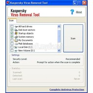 Скриншот Kaspersky Virus Removal Tool 11.0.0.1245