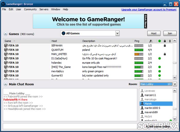 Скачать программу gameranger