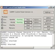 Скриншот XAMPP 1.7.7